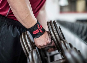 Red Line Wrist Wraps barbell